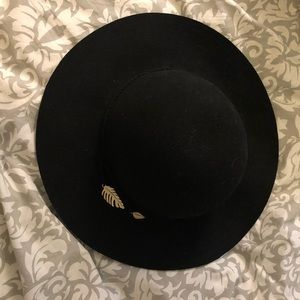 Black Hat with Feather detail